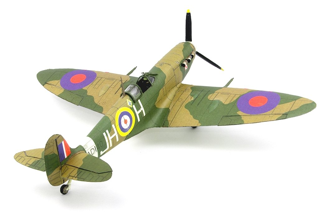 PAPER CRAFT CARD MODEL KIT British Fighter Aircraft Supermarine