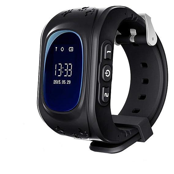 Hangang Smartwatch de Rastreador GPS para niños y monitor de bebé anti perdido Negro
