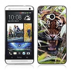 Carcasa Funda Case // V0000753 Tiger Animal Pattern //HTC ONE M7