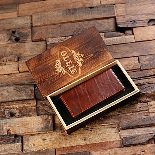 Monogram Full-Grain Leather Checkbook Wallet Bifold