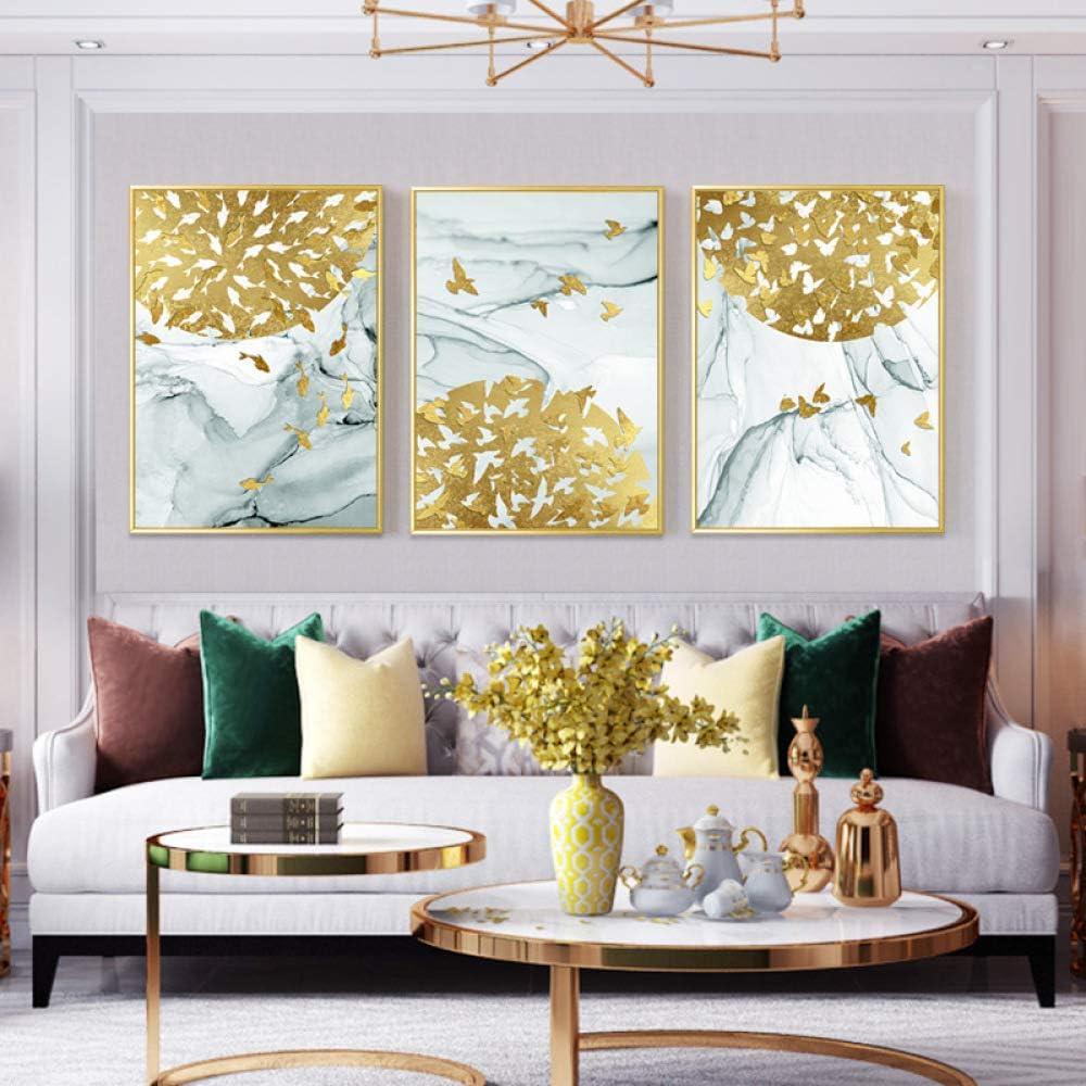 WSNDGWS Decoración de Sala de Estar Pintura Luz Líneas geométricas ...