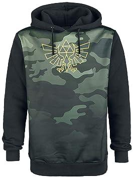 Camo Men's Legend The Blackwoods L Zelda Sweatshirt Black of Hoodie YqrqdX