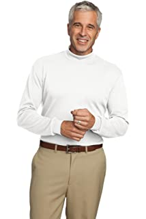 60f31560eef Men s Interlock Knit Mock Turtleneck in Sizes XS-6XL at Amazon Men s ...