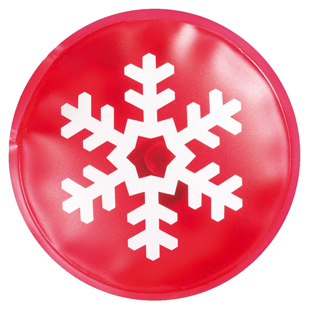 eBuyGB Reusable Gel Hand Warmer / Heat Pack - Instant Heating (Red Snowflake)