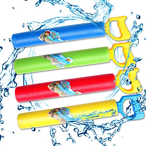 TNELTUEB Best Long Water Gun Set, 4 Pack Super Soaker Foam Water Blaster Gun for Swimming Pool Beach Summer Water Fighting Game Outdoor Toys for Boys Girls - Toy Squirt Set