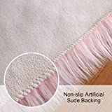 Softlife Square Faux Fur Sheepskin Chair Cover Seat Cushion Pad Super Soft Area Rugs for Living Bedroom Sofa