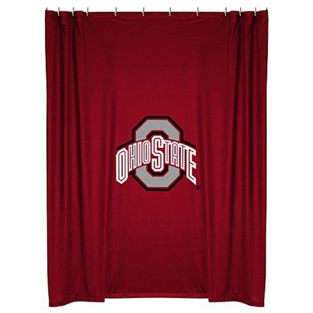 Sports shower curtains - Amazon Com Ohio State Buckeyes 72 X72 Shower Curtain Sports Outdoors