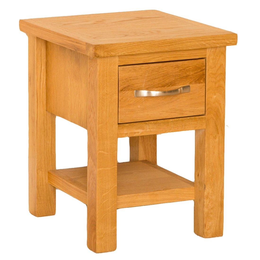 Newlyn oak side table light oak lamp table with drawer solid newlyn oak side table light oak lamp table with drawer solid wood small table roseland furniture amazon kitchen home geotapseo Gallery