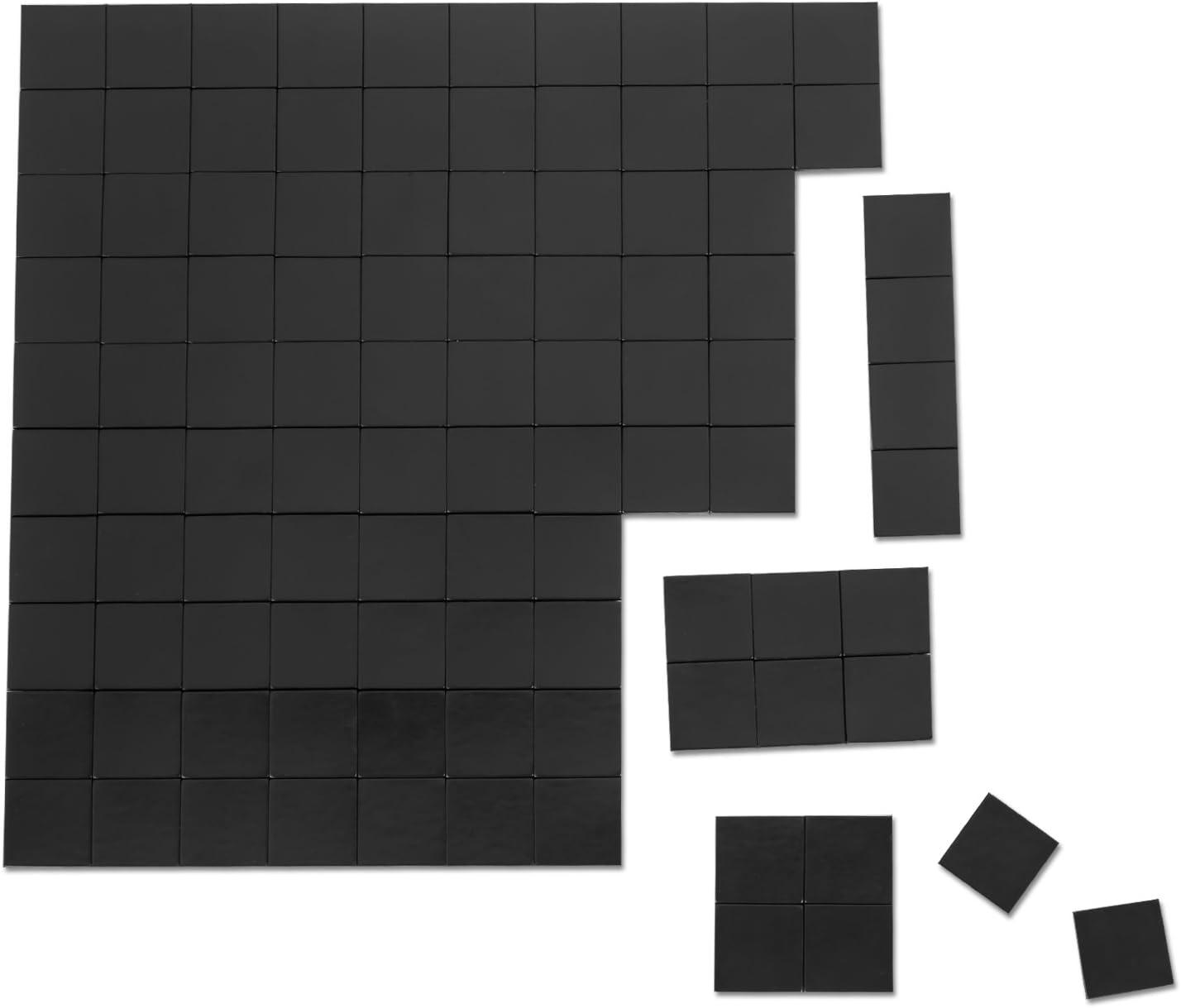 netany 100pcs Flexible imán cuadrados/imanes para manualidades/adhesivo imanes/tiras de cinta magnética/imán con adhesivo – cada hoja: 4/5