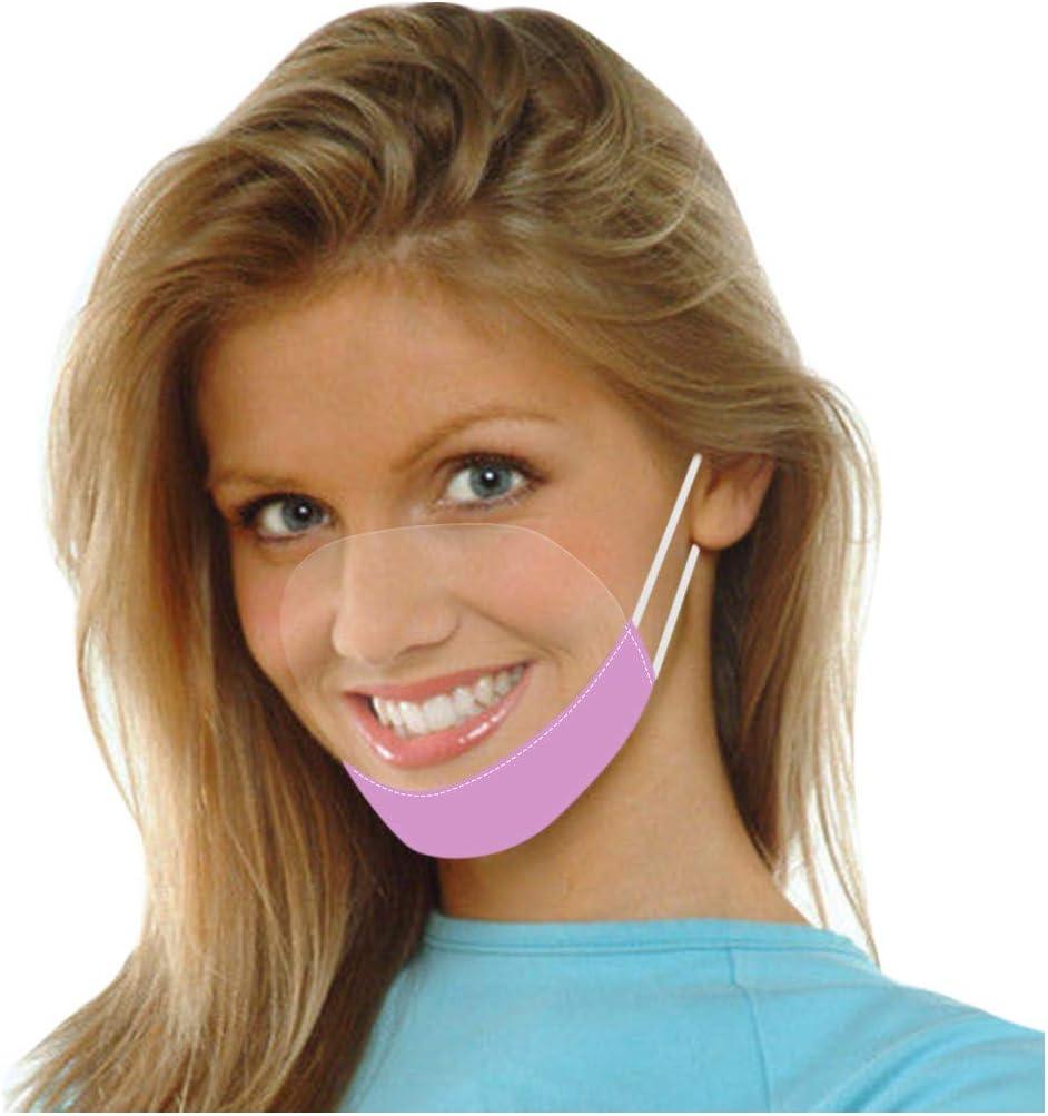Lulupi Visier Gesichtsschutz Transparent Offene Kunststoff Gesichtsschild Schutzschild Wiederverwendbar Waschbar Anti-Staub Schutzschirme Visierschutz