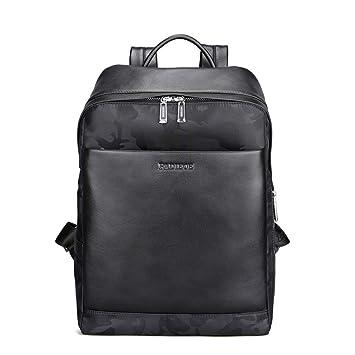4cc392502e31 Padieoe Mens Genuine Leather Backpack Laptop Shoulder Bag Teen School Bag  Travel Hiking Bag