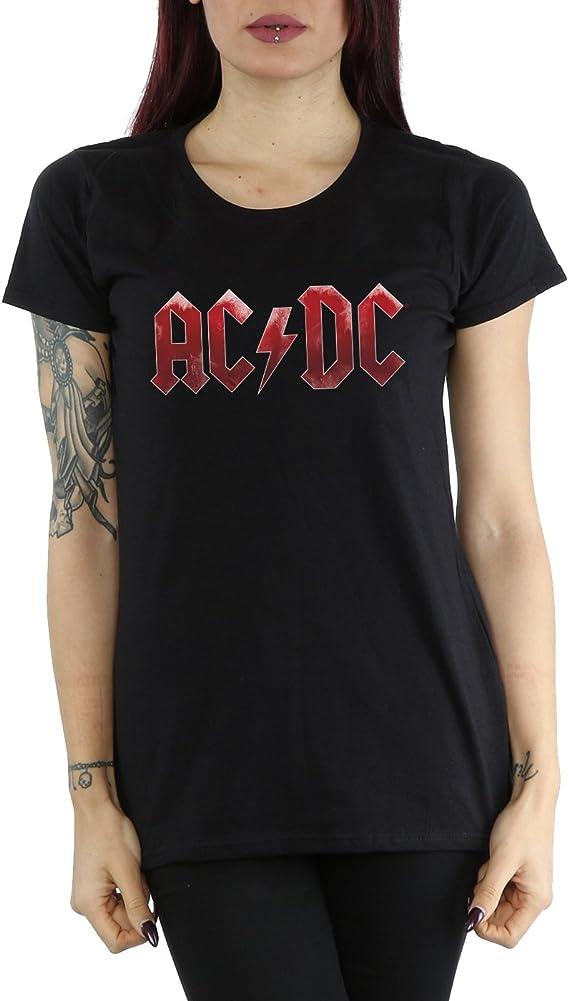 AC/DC Mujer Red Ice Logo Camiseta: Amazon.es: Ropa y accesorios