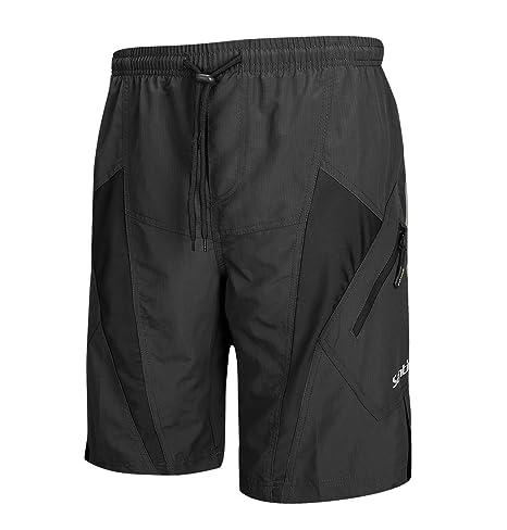 fb2962519f Santic Men's Cycling Shorts Loose-Fit 4D Padded Bike Bicycle MTB Mountain  Bike Shorts