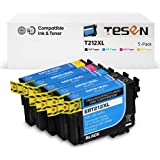 TESEN Remanufactured Ink Cartridge Replacement for 212 XL 212XL T212XL for Expression Home XP-4100, XP-4105, Workforce…