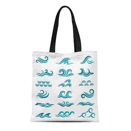 3ee4955d9080 Amazon.com: Semtomn Canvas Tote Bag Shoulder Bags Abstract ...