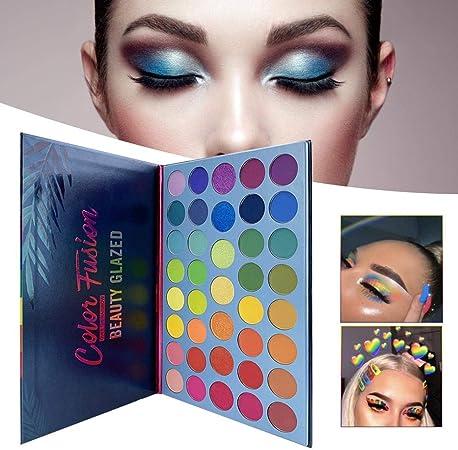 WUYANSE Paleta de Sombras de Ojos Rainbow Beauty Glazed de 39 Colores Paleta de Maquillaje de Alto Pigmento para Fiesta de Navidad: Amazon.es: Hogar