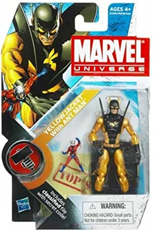 Marvel Universe Yellow Jacket with Ant Man 3-3//4 Inch Scale Action Figure