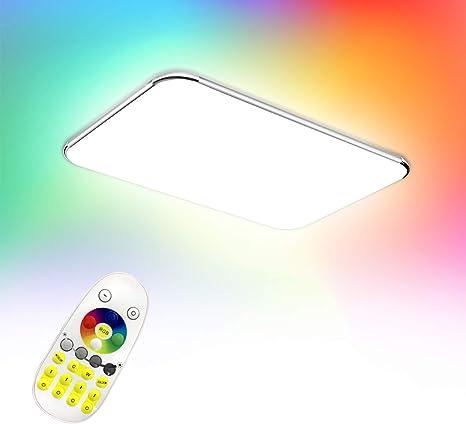 Deckenleuchte Wohnzimmer LED mit Fernbedienung 48W Deckenlampe Dimmbar CCT