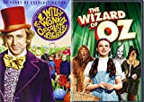 The Wizard of Oz & Willy Wonka & the Chocolate Factory Musical DVD Set / Classic Family Movie Bundle Double Feature