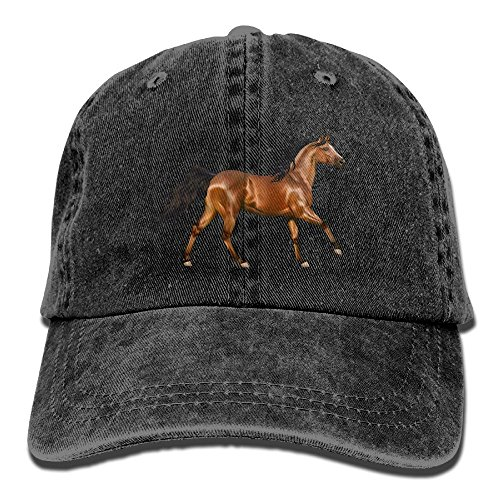 Arsmt 3D Horse Denim Hat Adjustable Men Plain Baseball Hat