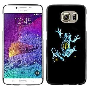 Be Good Phone Accessory // Dura Cáscara cubierta Protectora Caso Carcasa Funda de Protección para Samsung Galaxy S6 SM-G920 // Blue Fringe Frog