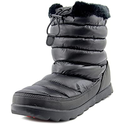 Womens The North Face Thermoball Micro-baffle Boots Shiny TNF Black/TNF Black XRH83596