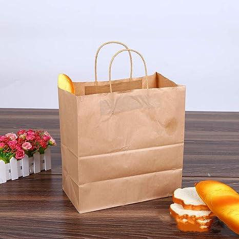 Bolsa de papel kraft reciclable, bolsa de papel de 11 × 5.9 ...
