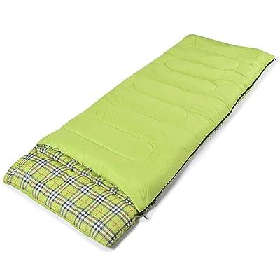 épaississement Printemps Et En Hiver Sac De Couchage Ultra-léger Peut être épissés Unique,215*75cm-Green