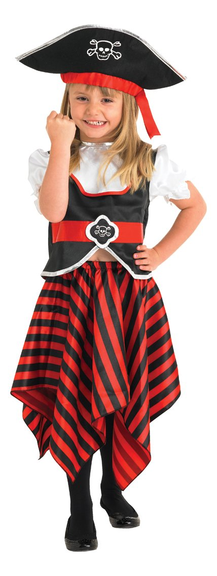 Rubieu0027s Official Girlu0027s Christyu0027s Little Lass Pirate Toddler Costume - 3-4 Years Amazon.co.uk Toys u0026 Games  sc 1 st  Amazon UK & Rubieu0027s Official Girlu0027s Christyu0027s Little Lass Pirate Toddler Costume ...