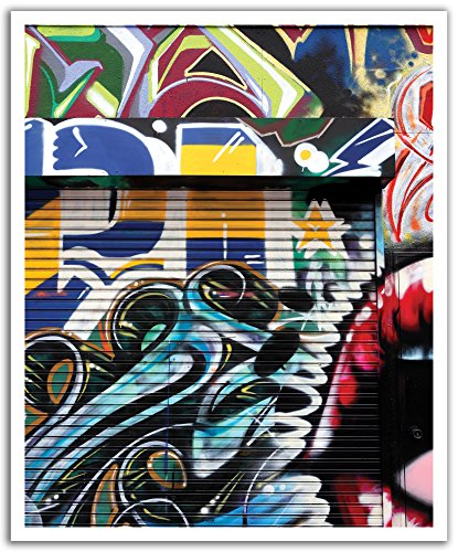 JP London Peel and Stick Removable Wall Decal Sticker Mural, Graffiti Garage Urban Punk Door, 19.75 by 24-Inch ()
