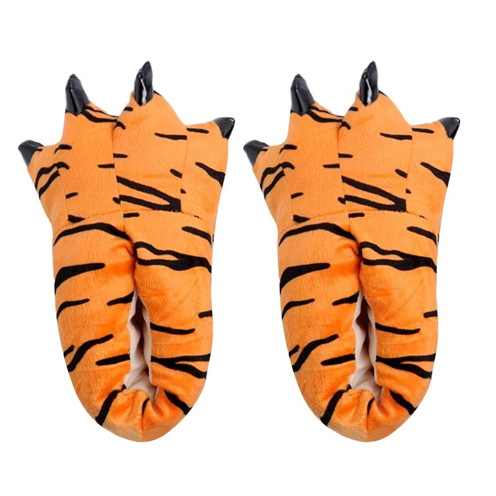 Clearance Unisex Winter Warm Cartoon Home Anti-Slip Slippers Soft Plush Novelty Animal Claw Costume Paw Cotton Shoes