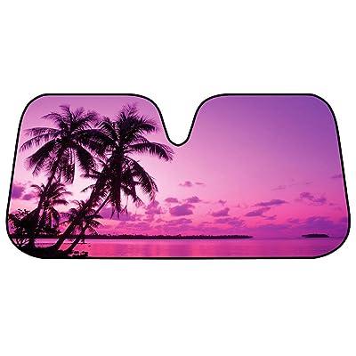 BDK Front Windshield Sun Shade-Accordion Folding Auto Sunshade for Car Truck SUV-Blocks UV Rays Sun Visor Protector-Keep Your Vehicle Cool- 58 x 27 Inch: Automotive