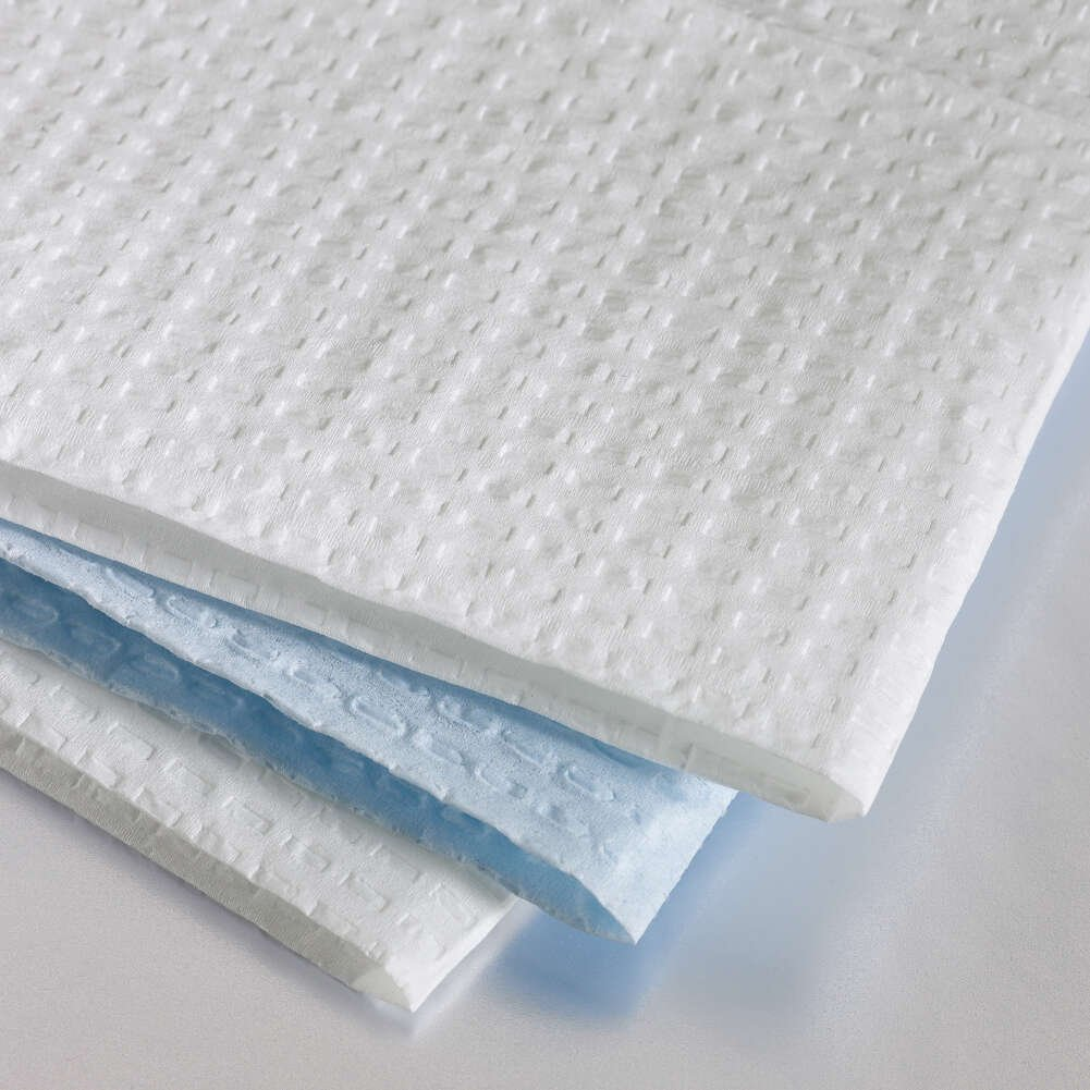 Graham Medical Towel, Disposable, Paper, 3-Ply Tissue, 13.5' x 18', Blue, 171 (Case of 500)