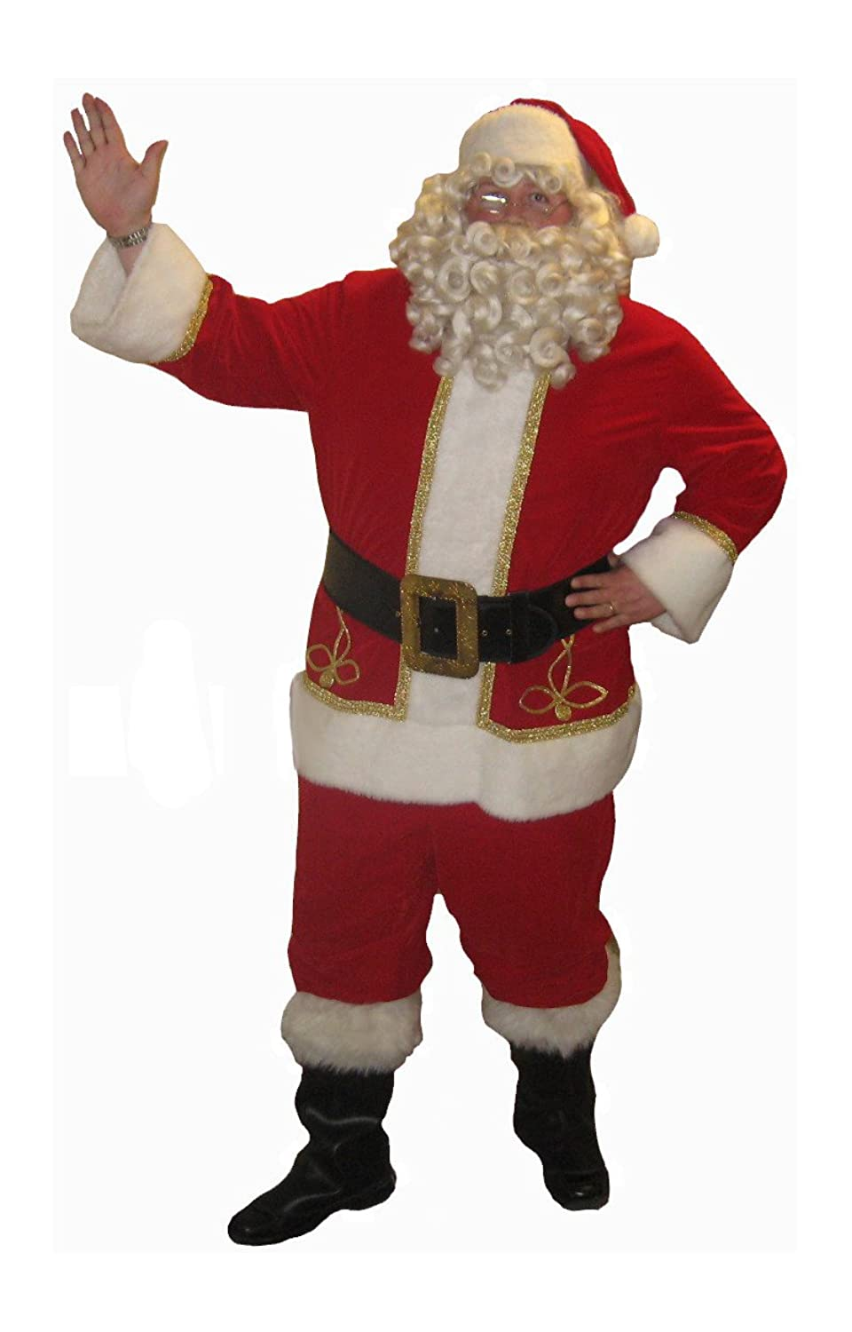 Men's Professional Santa Suit Set Made in USA - DeluxeAdultCostumes.com