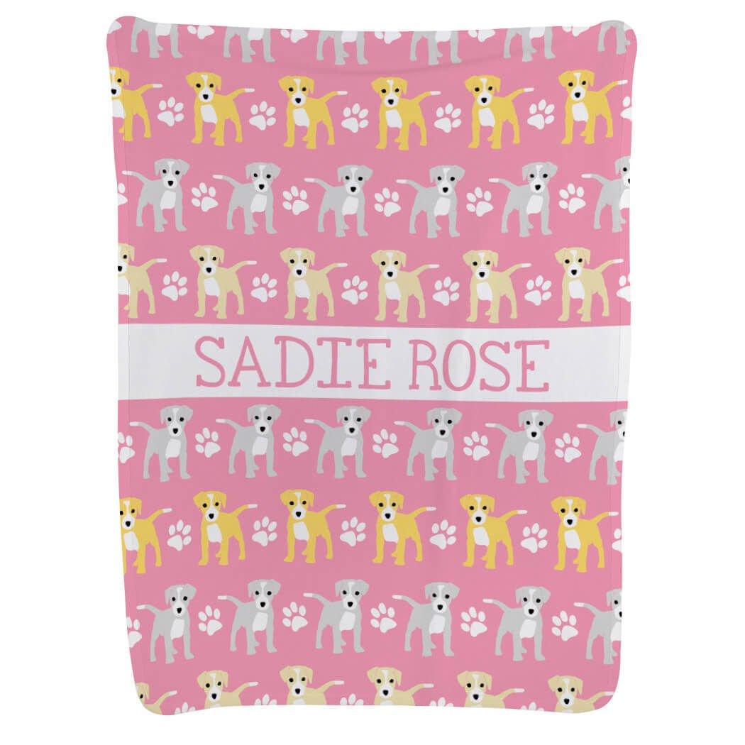 Baby & Infant Blanket | Dogs | Light Pink