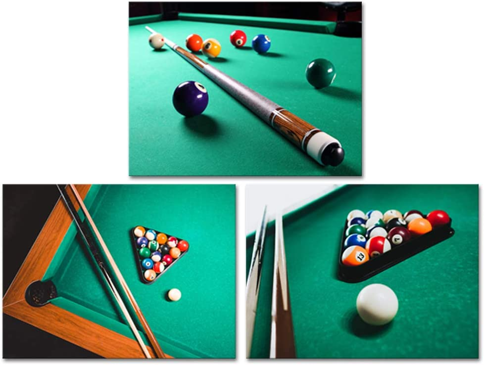 Derkymo Billiards Canvas Wall Art Snooker Shooting Pool Posters Pictures Giclee Printing Lounge Bar Decor Stretched and Framed Ready to Hang Home Billiard Room 12