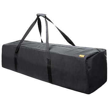 6e47bb855959 INFANZIA 45 Inch Zipper Duffel Travel Sports Equipment Bag, Waterproof  Oversize, Black