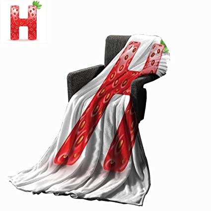 Amazon.com: Luckyee Letter H Digital Printing Blanket ...