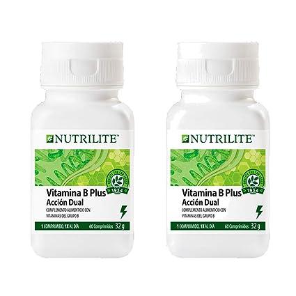 Vitamina B Plus orgánica de NUTRILITE - Pack 2 x 60 comprimidos 1 al dia.