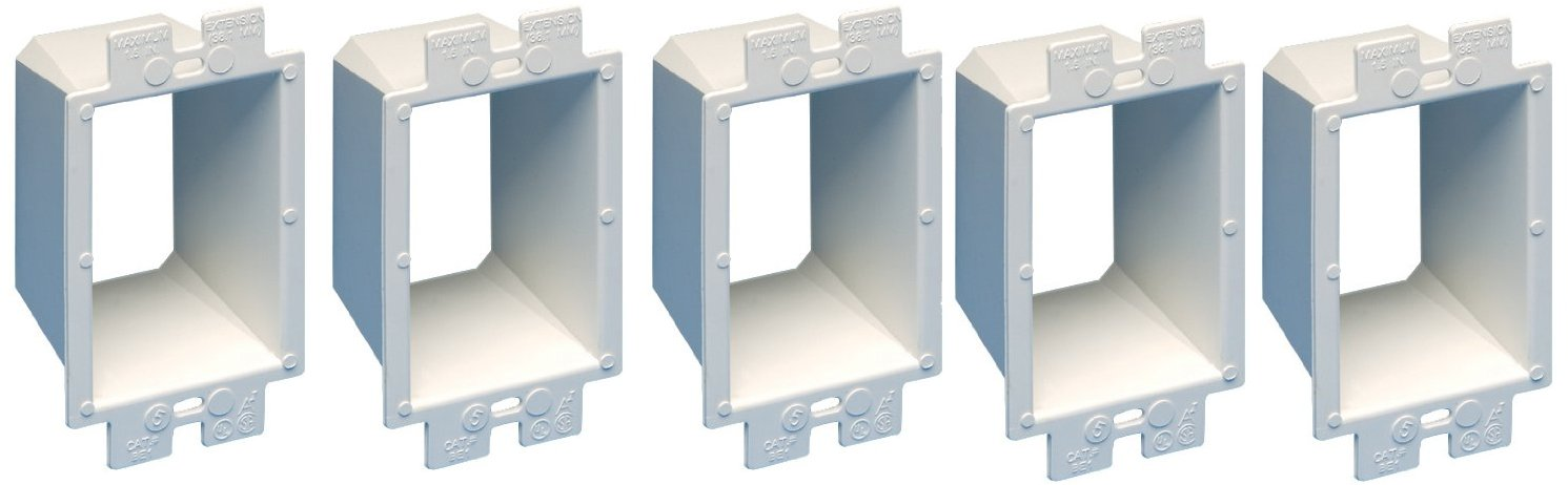 Arlington BE1-5 Electrical Outlet Box Extender 1-Gang White 5-Pack - - Amazon.com & Arlington BE1-5 Electrical Outlet Box Extender 1-Gang White 5 ... Aboutintivar.Com