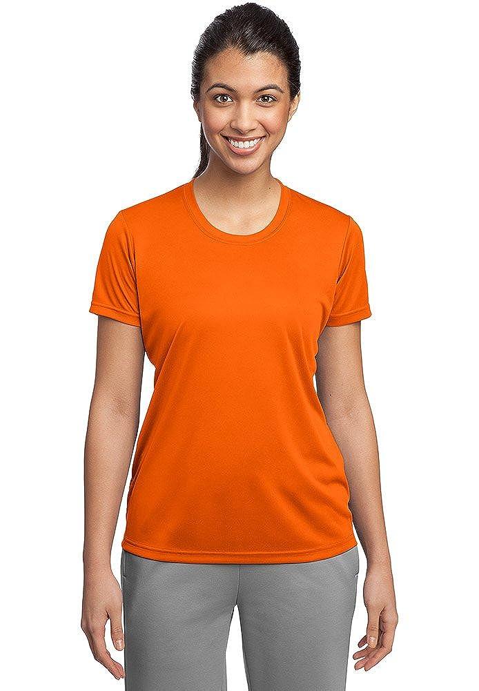 Deep orange DriWick Women's Sport Performance Moisture Wicking Athletic T Shirt