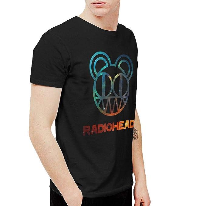 0bba5bf14c1d Rain-Mate Radiohead Men's Short Sleeve T-Shirts Black | Amazon.com