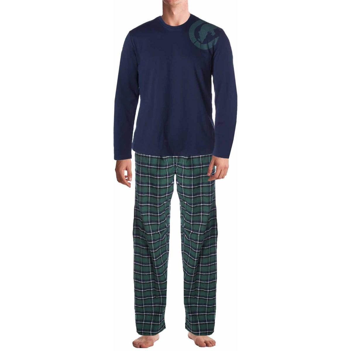 Ecko Unltd.. Mens 2PC Flannel Pajama Gift Set Green L