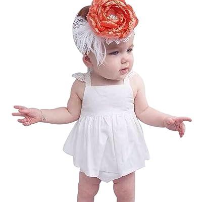 ???? Robe de Filles Été Amlaiworld Bébé fille Sunsuit d'été Dos nu Princesse Robe + Slip Ensemble vêtements Pour 6-24Mois Fille