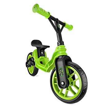 2213b4e7b47 Xootz Folding Balance Bike (Green): Amazon.co.uk: Toys & Games