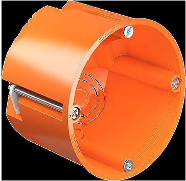 Kaiser 9064-02 Caja de interruptores para Pared Hueca (diámetro de 68 mm), Naranja, 68x62mm: Amazon.es: Bricolaje y herramientas