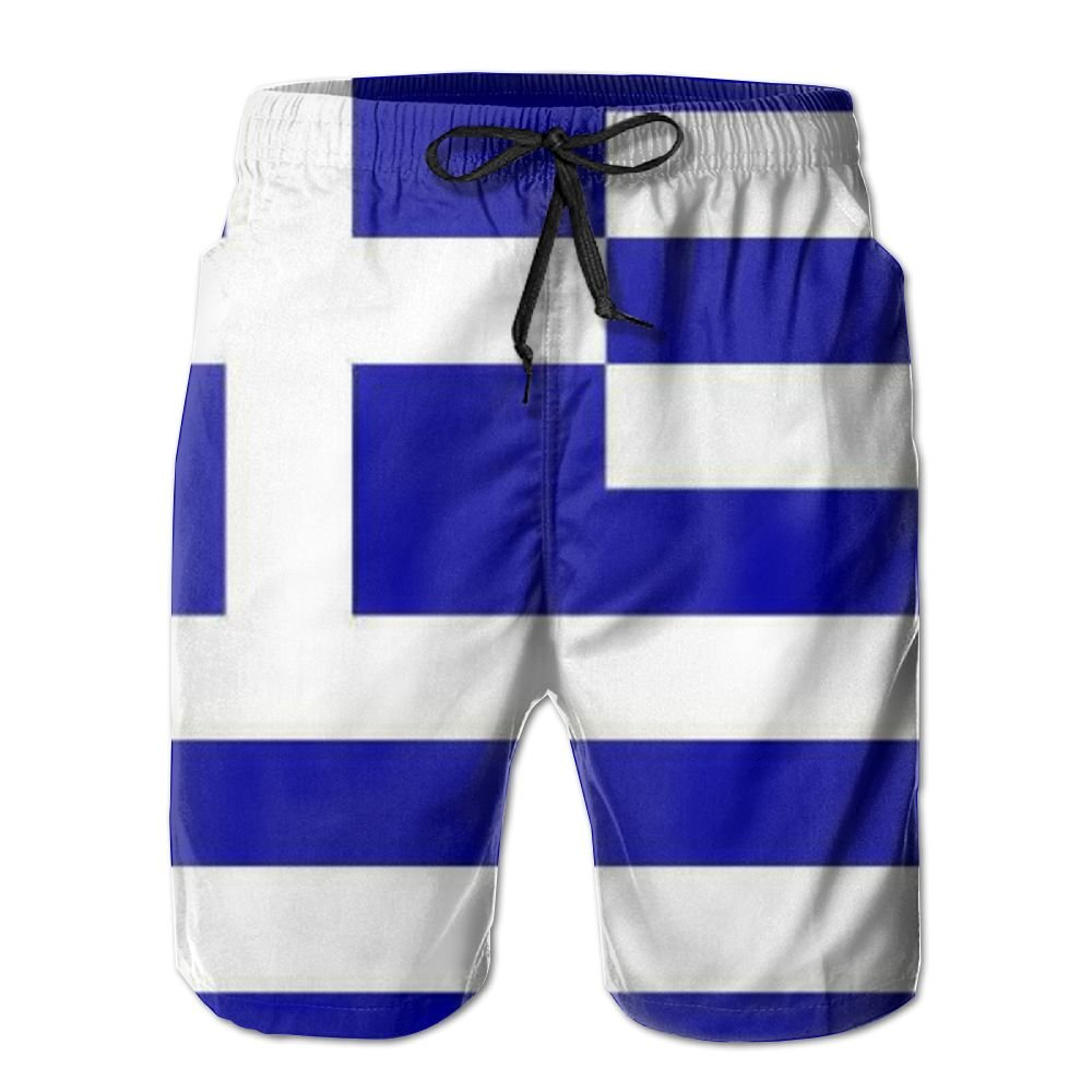 Ruin Beach Shorts Greek Flag Men's Fashion Board Shorts Men's Sleep Quick Dry Swim Trunks Beach Shorts