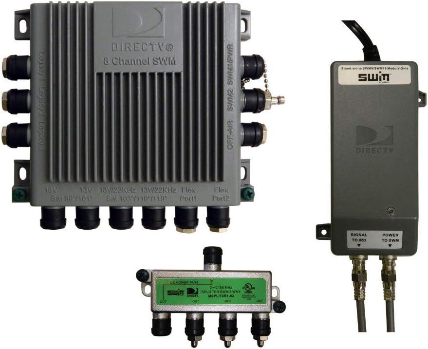 Amazon.com: Winegard SWM-D30 Multi-Switch Kit for DIRECTV, Standard, White:  Automotive   Winegard Carryout Wiring Diagram      Amazon.com