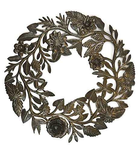 Floral Wreath made from Lid of Barrel 23
