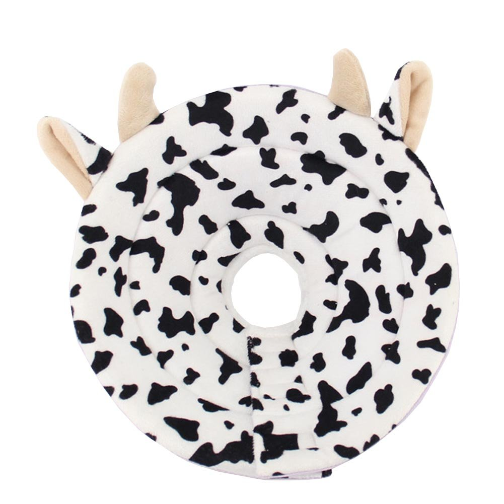 BUYITNOW Cute Pet Recovery Cone Soft Cow Pattern Anti-Bite E-Collar for Small Medium Dogs Cats